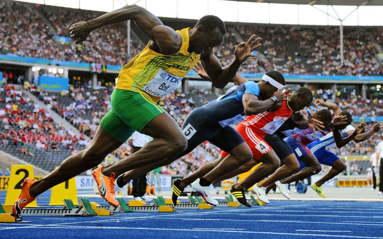 Спринтерский бег Усейн Болт (Usain Bolt)