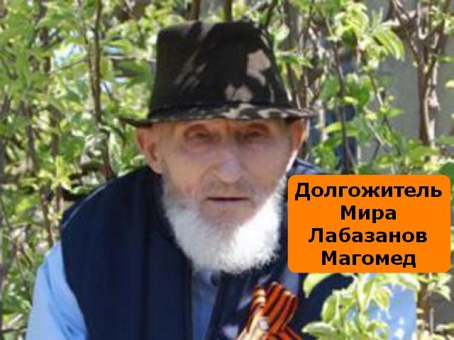 Долгожитель Мира. Лабазанов Магомед