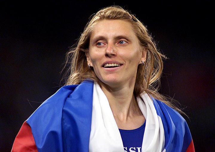 Спринтерский бег Ирина Привалова (Irina Privalova)