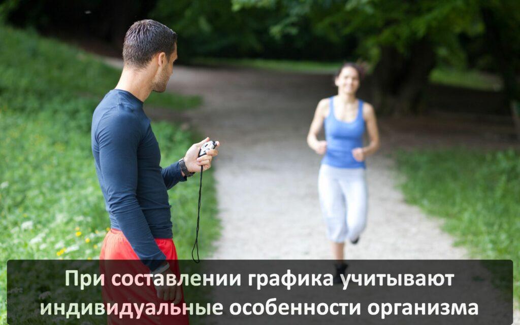Как самостоятельно составить график тренировок по бегу